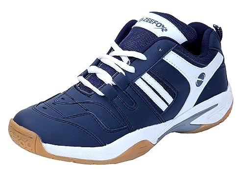 e9ac7bb7342 ZEEFOX Men s Ryder Non-marking PU Badminton Shoes  Buy Online at Low ...
