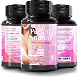 Natural Pueraria Mirifica Daily 2000mg Capsules - Breast Enhancement Pills for Women - Breast Enlarger, Vaginal Health…