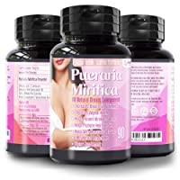 Natural Pueraria Mirifica Capsules 2000mg Daily - Breast Enhancement Pills for Women...