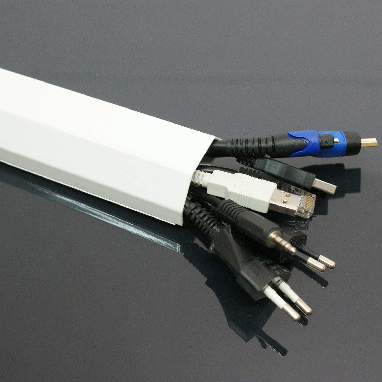 100cm ALU Kanal weiß Kabelkanal Abdeckung: Amazon.de: Elektronik