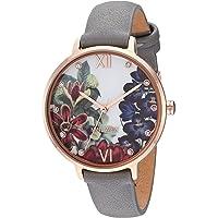 Nine West NW/2348FLGY - Reloj de pulsera para mujer, color rosa dorado y gris