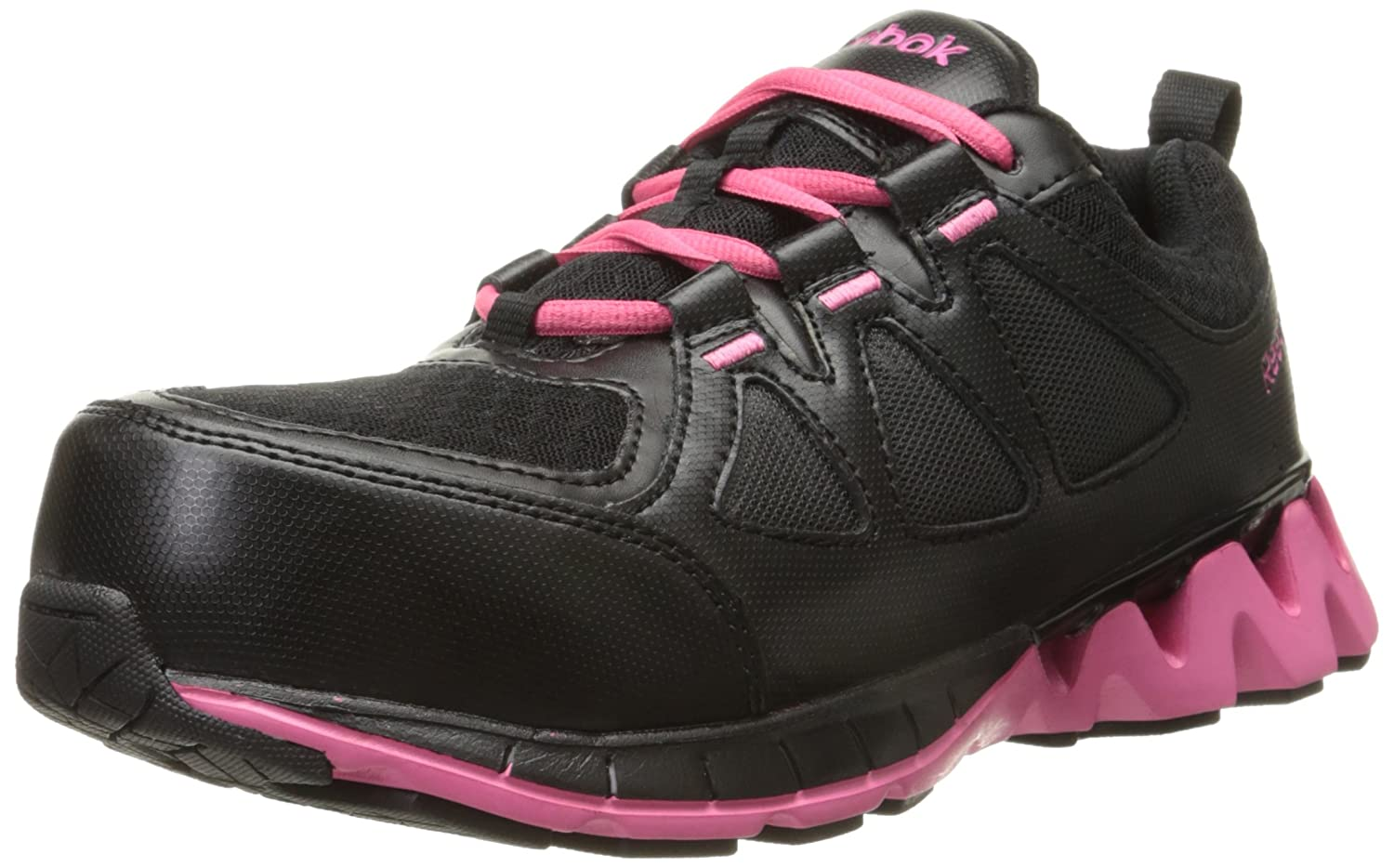 Reebok Work Womens sublite work rb415 Low Top Lace Up Walking Shoes B017NQTZC2 7.5 B(M) US|ブラック ブラック 7.5 B(M) US