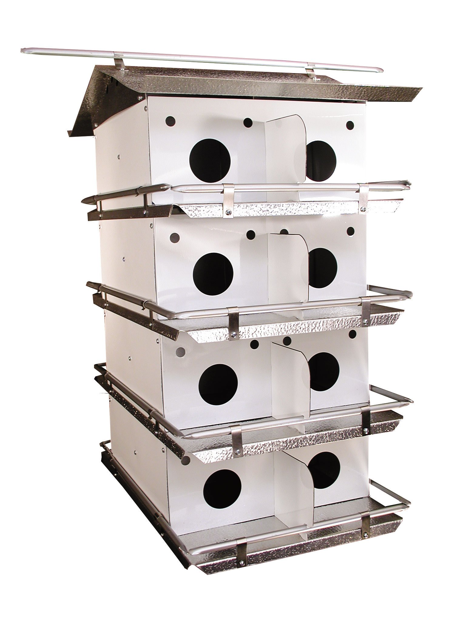 Birds Choice Original 4-Floor-16 Room Purple Martin House with Round Holes