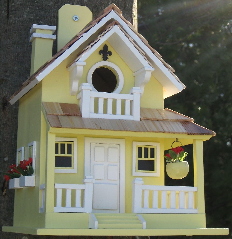 Wild Bird Nesting Box//Birdhouse Backyard Bird Cottage Design in Yellow