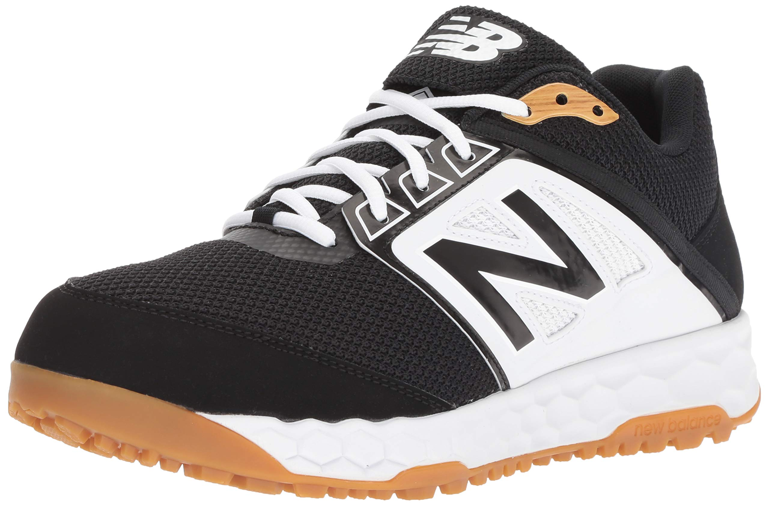 New Balance Men's 3000v4 Turf Baseball Shoe, Black/White, 5 D US