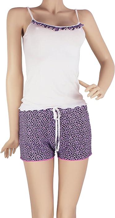 SHT02 Shorts & Cami PJ Set Pajama Nightwear Pijamas de Mujer