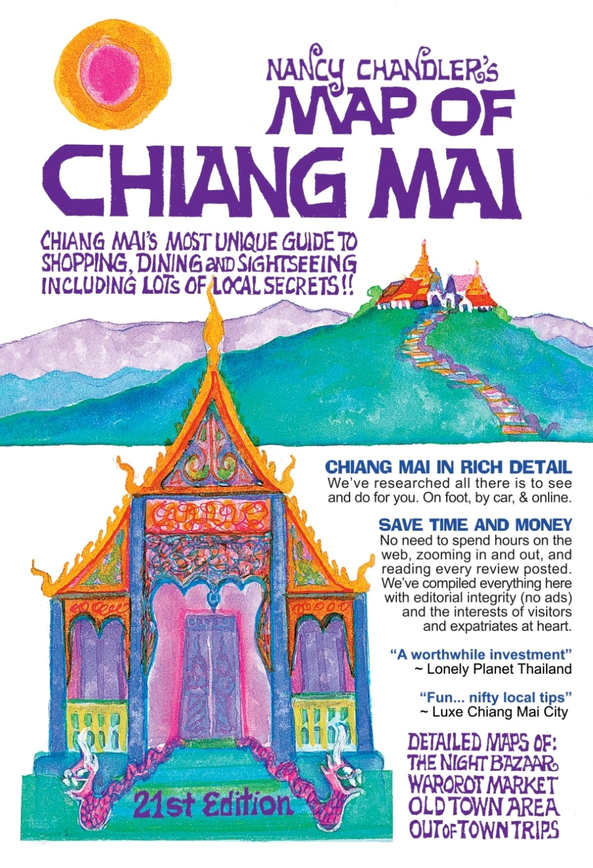 Nancy Chandler\'s Map of Chiang Mai, 21st Edition: Nima Chandler ...