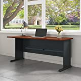 Series A 72W Desk in Hansen Cherry and Galaxy