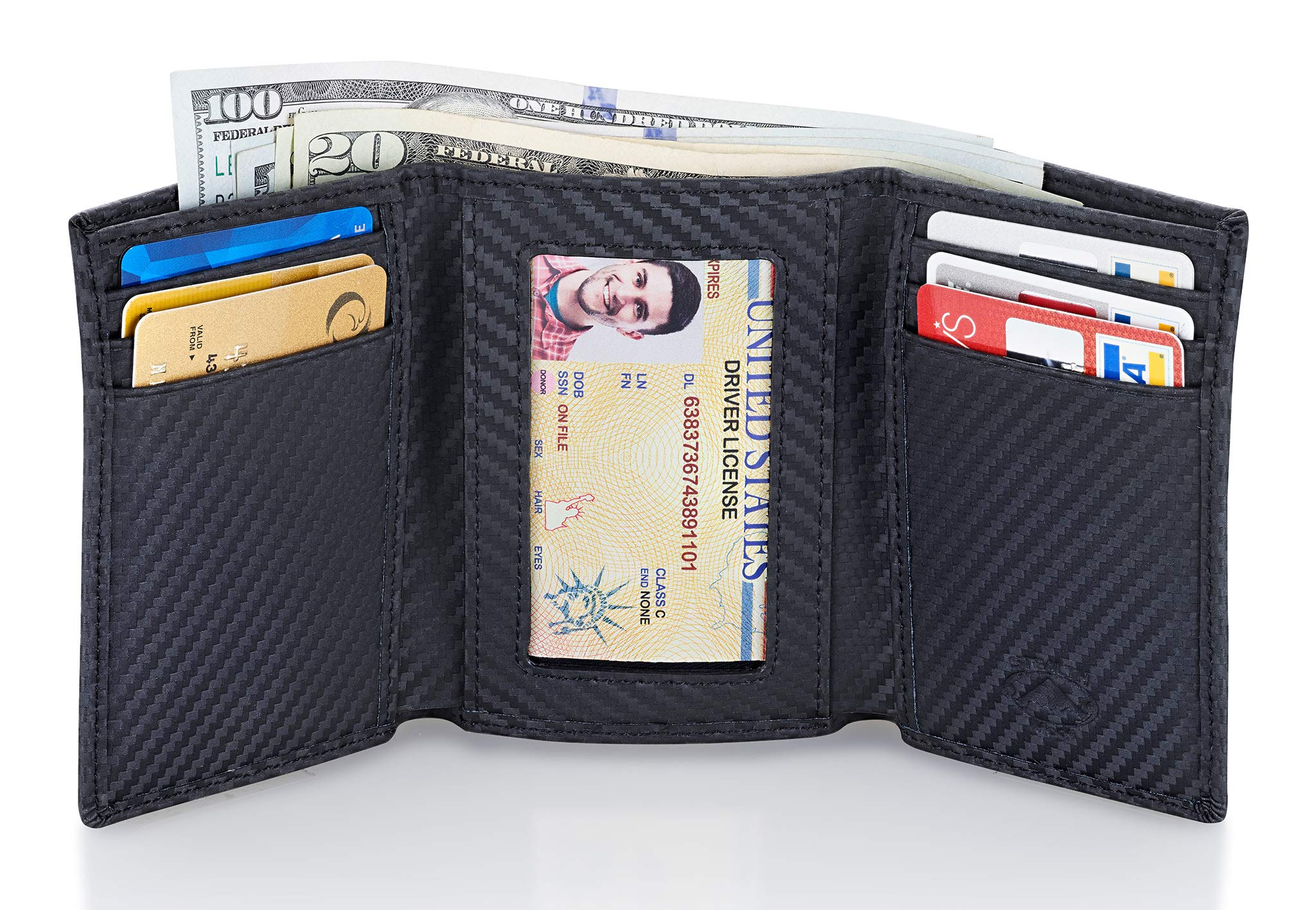 Stealth Mode Trifold RFID Blocking Carbon Fiber Wallet for Men by Stealth Mode (Image #2)