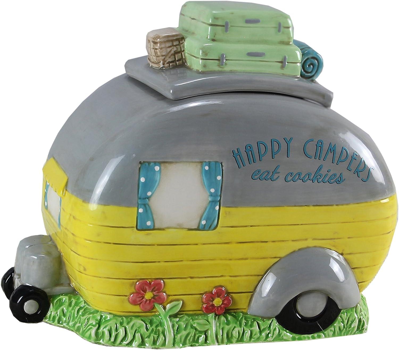 Ceramic RV Camper Pet Treat Jar