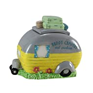 "Young's Ceramic Camper Cookie Jar, 9.5"""