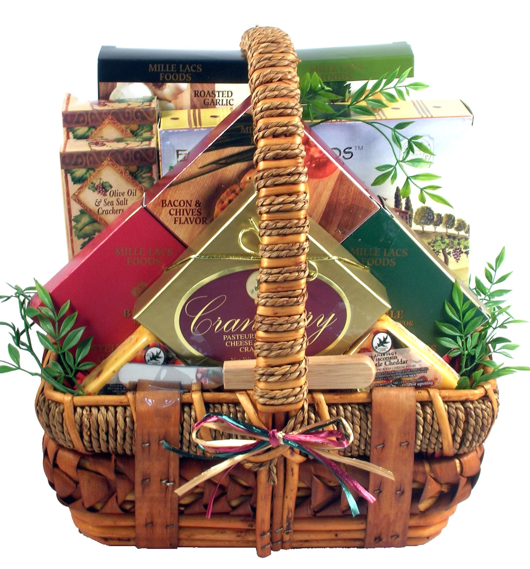 Gift Basket Village - Cheese Lover Gift Basket with Assorted Specialty Cheeses & Crackers - Makes A Great Father's Day Gift Basket For Dad
