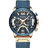 Mens Luxury Watches Business Chronograph Dress Waterproof Leather Strap Analog Quartz Wrist Watch