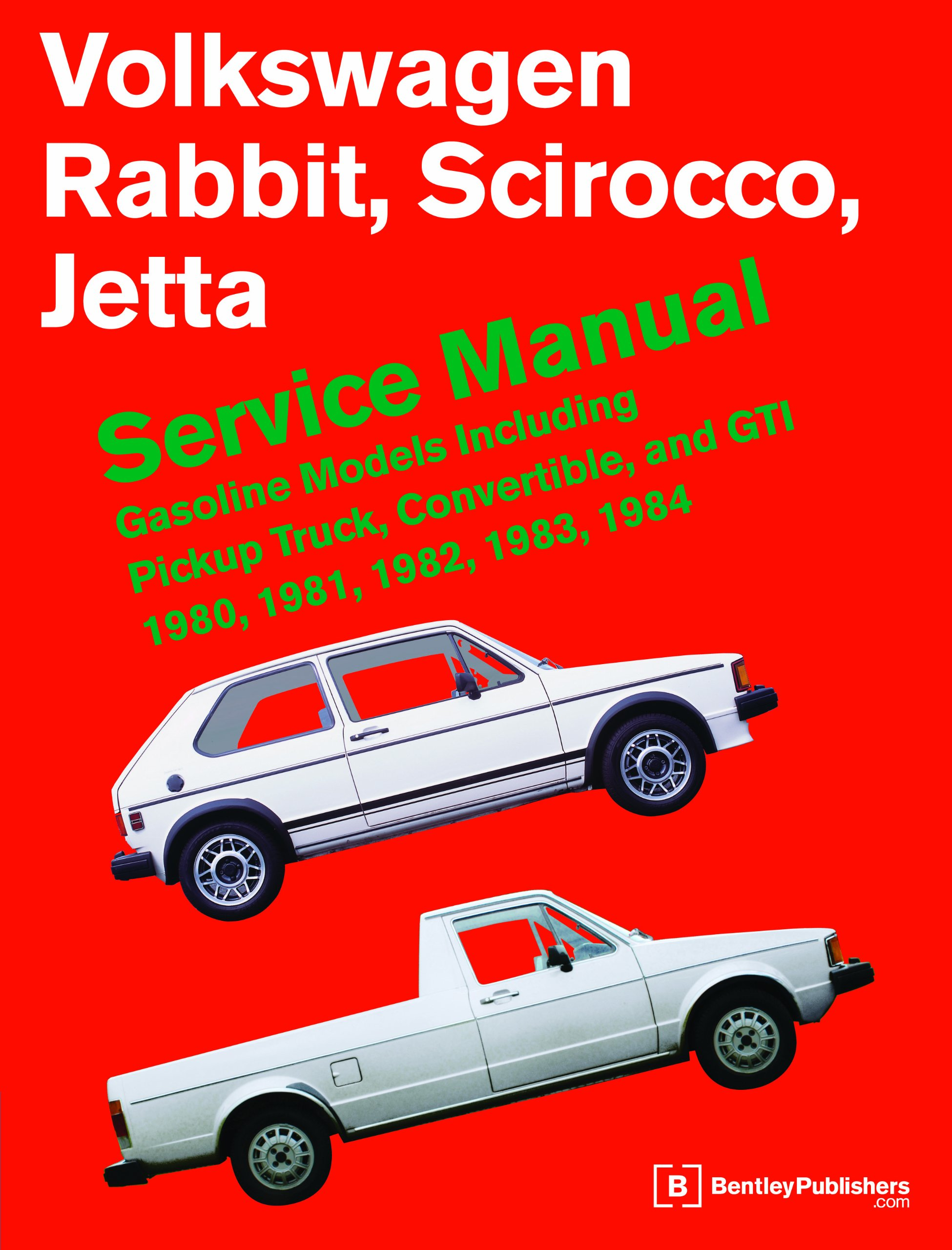 volkswagen rabbit scirocco jetta service manual 1980 1984 rh amazon com Chevy Convertible Volkswagen Rabbit Cabriolet