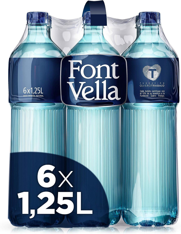 Font Vella Agua Mineral Premium - Pack de 6 x 1,25L: Amazon.es: Alimentación y bebidas