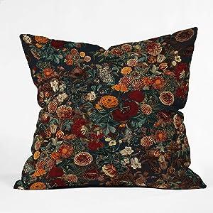 "Society6 Burcu Korkmazyurek Exotic Garden - Night XXI Throw Pillow, 20""x20"", Multi"