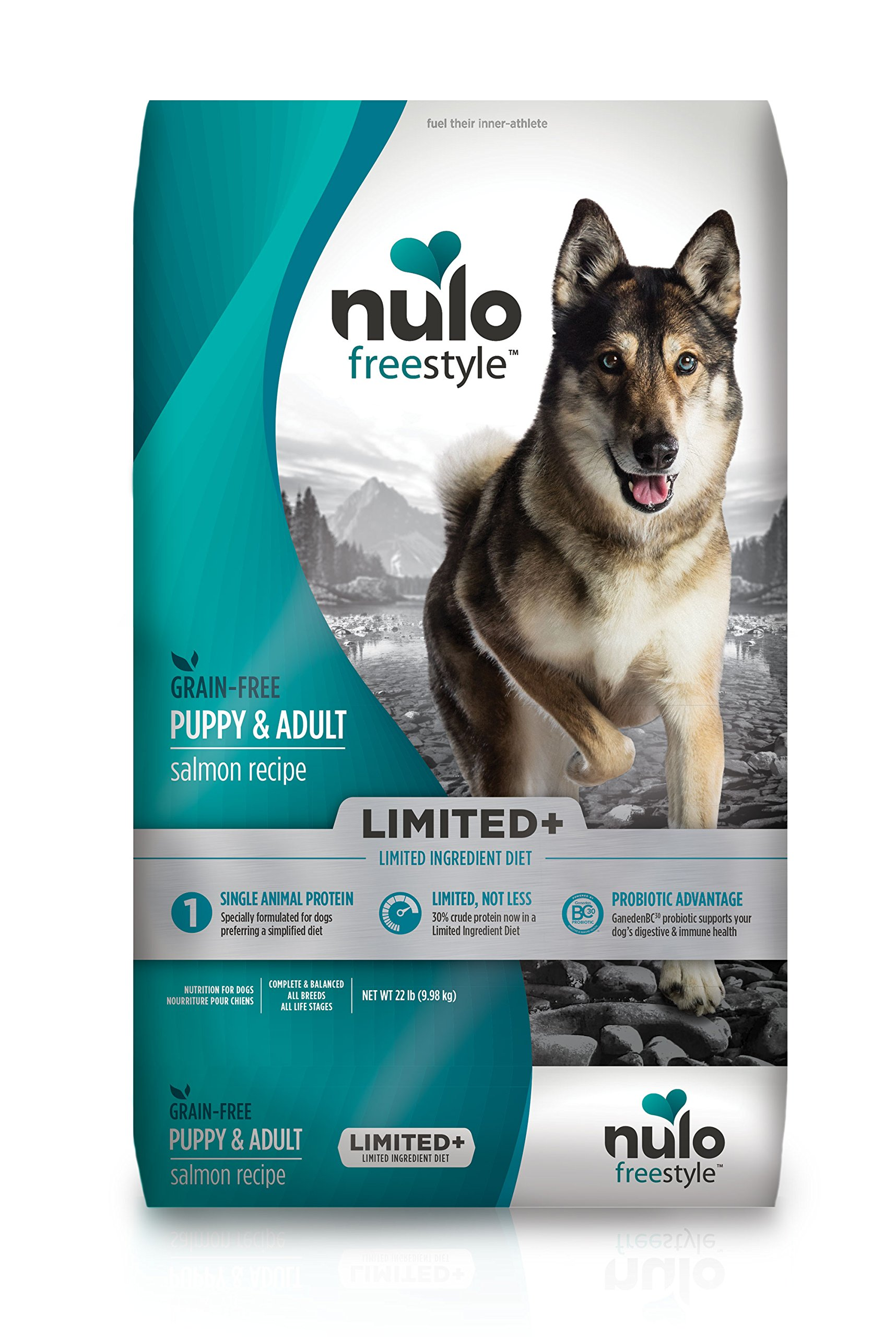 Nulo Puppy & Adult Freestyle Limited Plus Grain Free Dry Dog Food: All Natural Limited Ingredient Diet For Digestive & Immune Health – Allergy Sensitive Non Gmo (Salmon Recipe – 22 Lb Bag)