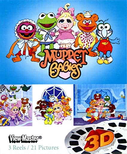 amazon com muppet babies showtime classic viewmaster 3 reels