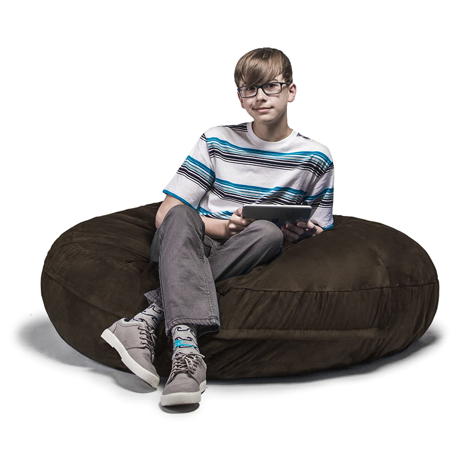 Jaxx 4 ft Cocoon Bean Bag Chair, Chocolate