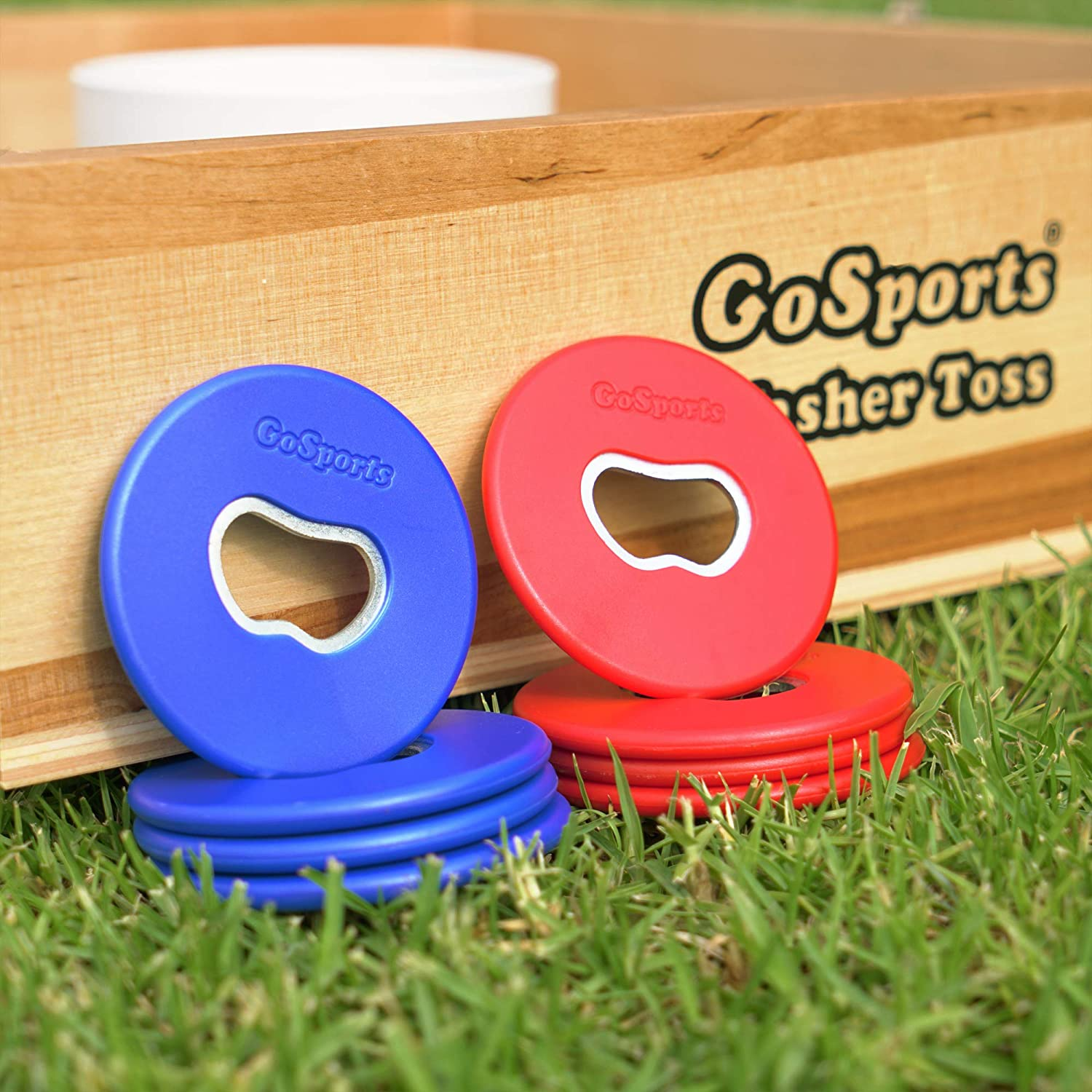 Choose from Steel Plastic Coated Steel or Bottle Opener Washers Sets of 8 Washers GoSports Replacement Washer Sets for Washer Toss
