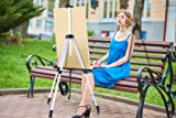 "Artist Easel, Ohuhu 2-Pack 66"" Aluminum Field Easel Stand with Carrying Bag for Table-top/Floor, Art Easels with Adjustable Height from 21-Inch to 66-Inch, Back to School Art Supplies"
