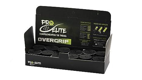 overgrips Pro Elite Confort Lisos Negros. Caja 10+2 unds ...