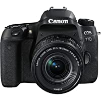Canon EOS 77D Camera with EF-S 18-55mm f/4-5.6 IS STM Lens - Black
