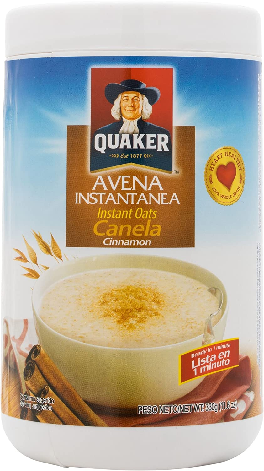 Amazon.com : Quaker Avena with Cinnamon 11.6 OZ Instant Oats Cinnamon Cereal Mix : Oatmeal Breakfast Cereals : Grocery & Gourmet Food