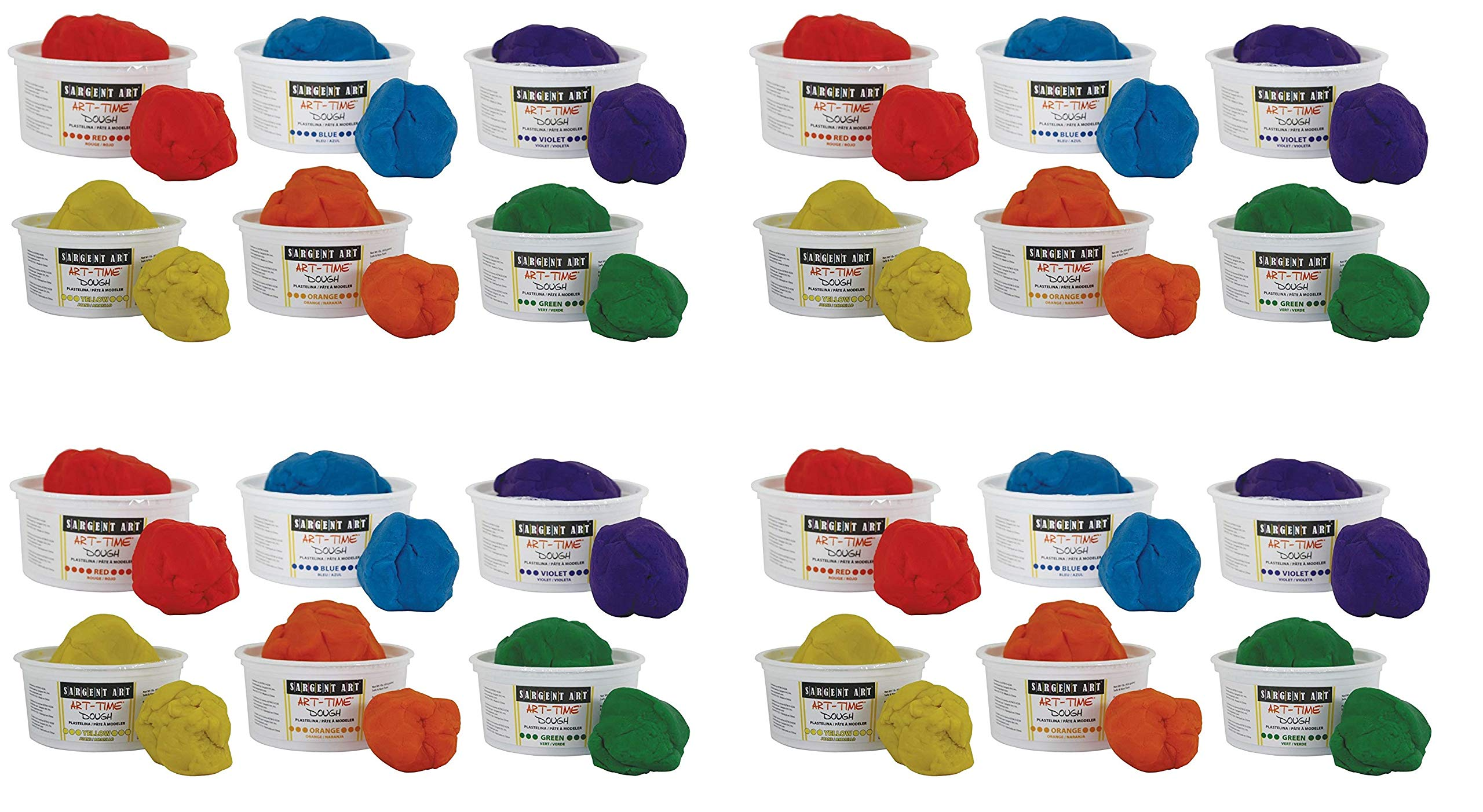Sargent Art 85-3198 Art-Time Dough Multicolored (4 X Pack of 6)