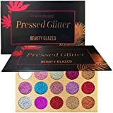 Beauty Glazed Halloween Glitter Eyeshadow Palette Pigmented Glitters Makeup Creamy Glitter Pro Makeup Palettes for…