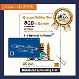 Orange Holiday ヨーロッパ - プリペイドSIMカード ー 【Amazon限定】4G通信 (3+5) GB 30分 SMS 200通 + SIMカードホルダー、SIM取り出しピン (8GB) 特典適用中