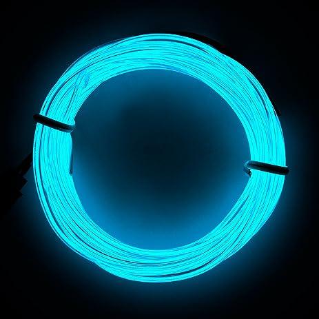 Amazon.com: Lysignal 16ft Neon Glowing Strobing Electroluminescent ...