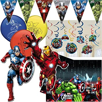 Procos/Carpeta 49 Piezas. Juego de decoración * Avengers Assemble ...