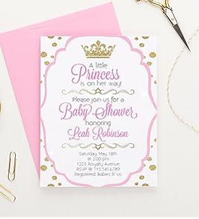 Little Princess Baby Shower Invitations, Princess Baby Shower Invitations,  Royal Princess Baby Shower Invitations