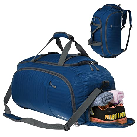 3-Way Travel Duffel Bag Backpack Travel Luggage Gym Sports Bag with Shoe  Compartment for 6fd04ef92f