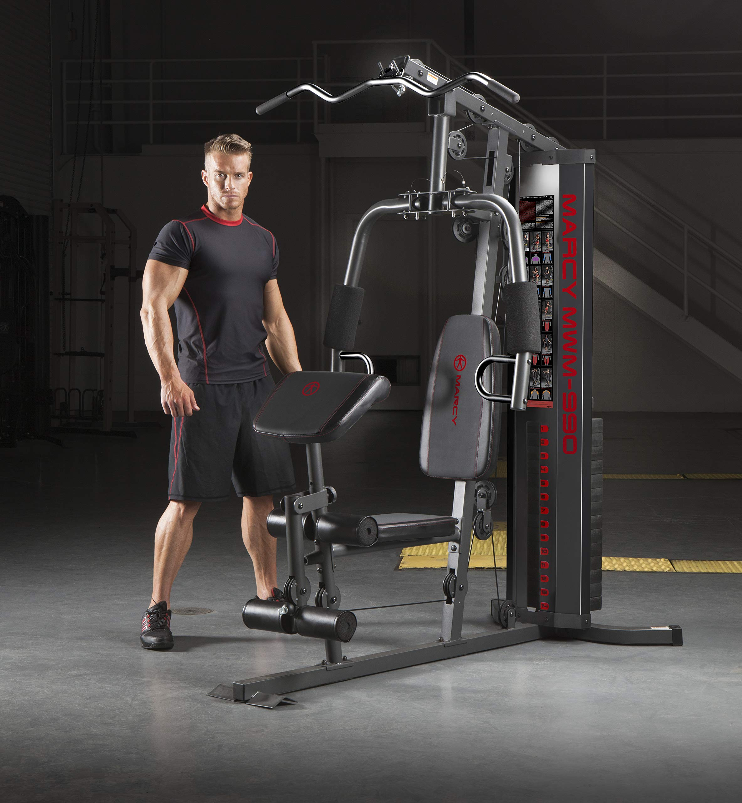 Marcy 150-lb Multifunctional Home Gym Station for Total Body Training MWM-990 by Marcy (Image #4)