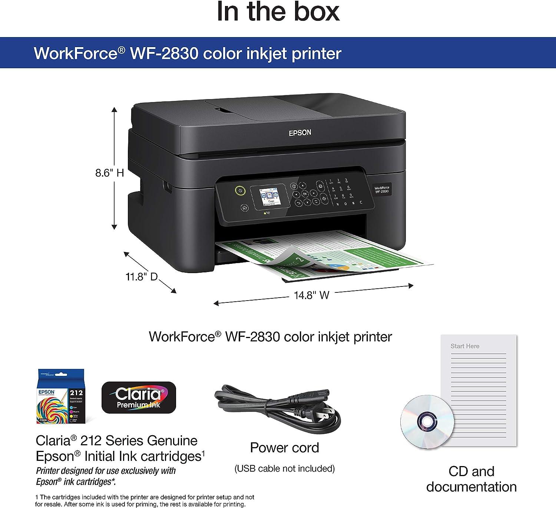 Amazon.com: Epson WF-2750 Impresora a color inalámbrica todo ...