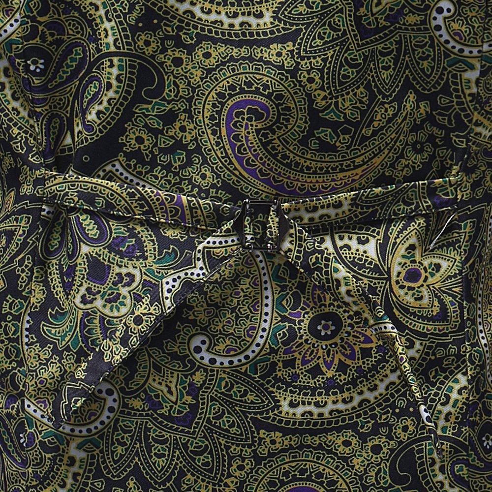 4XL, M06 MYMSTORM Business Mens Suit Dress Floral Waistcoat Vests Casual Slim Fit Button Down Mens Vest