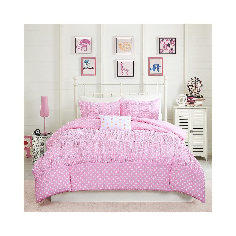 Mizone Lia 3 Piece Comforter Set, Pink, Twin/Twin X-Large