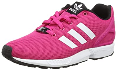 basket adidas blanche et rose, Adidas originals zx flux