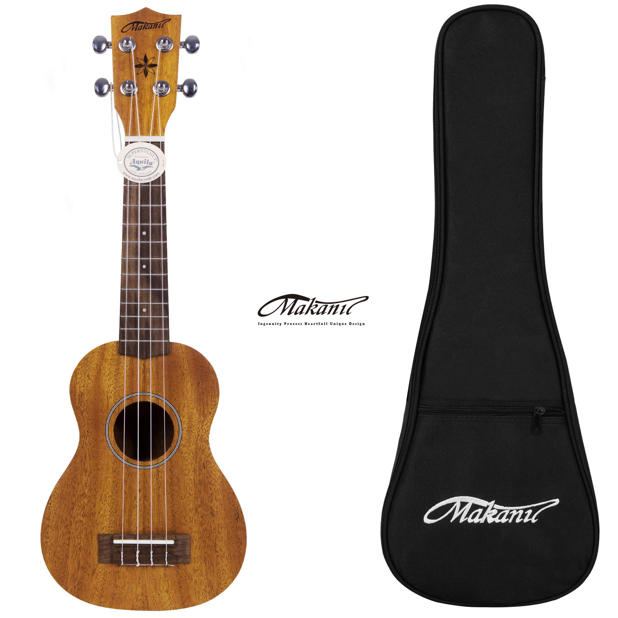 Makanu Soprano Ukulele Maho 21 Inch Ukulele with Gig Bag for Beginners Matt Finish Four String Guitar