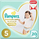 Pampers Premium Care Pants Diapers, Size 5, Junior, 12-18kg, 20 Count