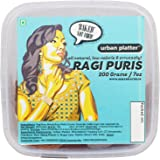 Urban Platter Ragi Puris, 200g [All Natural, Low-Calorie & Crunchy, Baked & Not Fried]