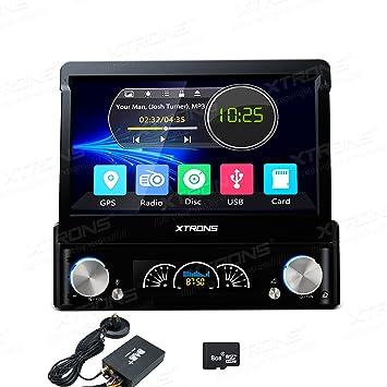 XTRONS individual 1 DIN Digital de 7 pulgadas motorizada desmontable Pantalla Táctil HD coche estéreo en
