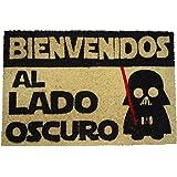 koko doormats - Felpudos Originales y Divertidos para la Entrada de casa - Bienvenido al Lado Oscuro - PVC, Coco, 40 x…