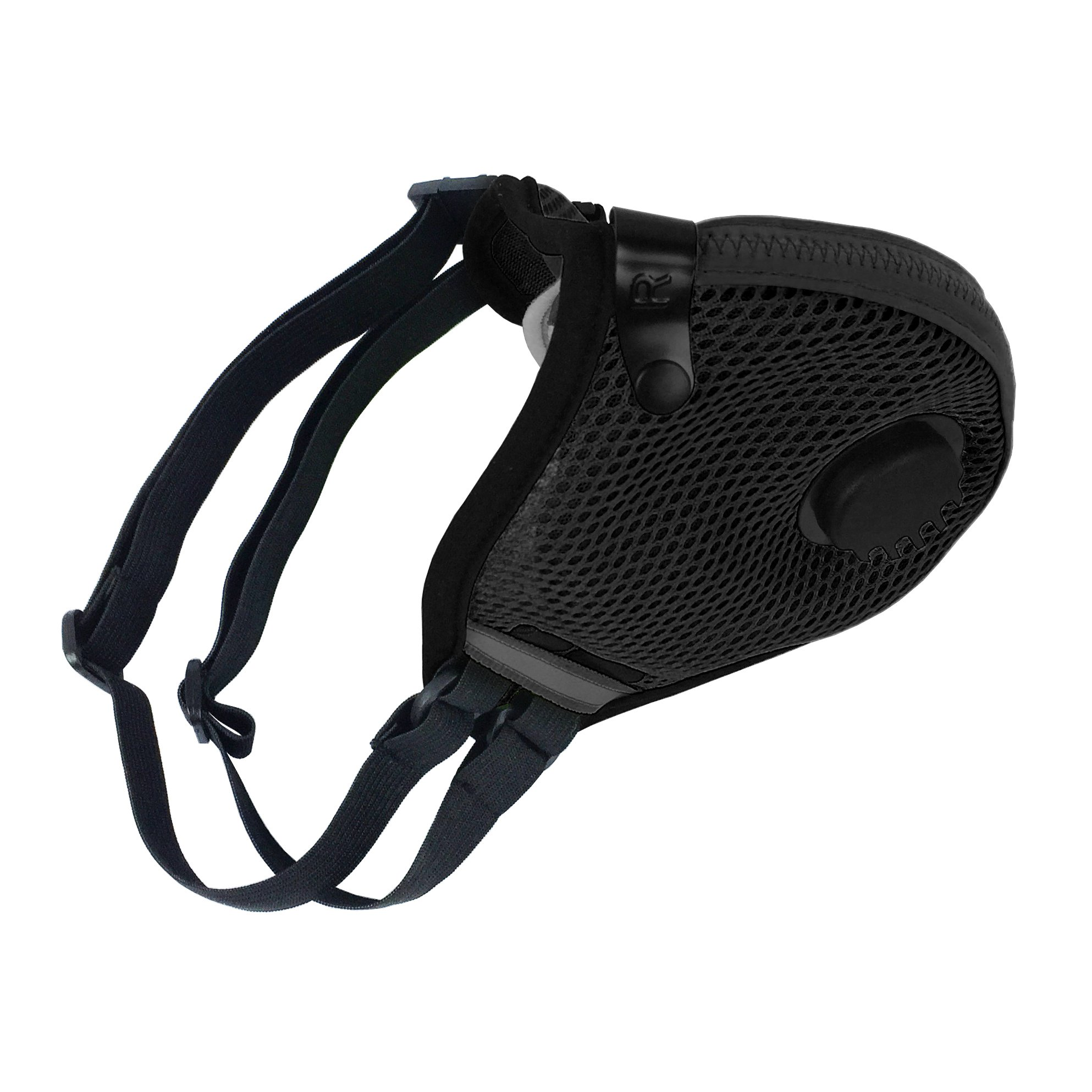 RZ M2.5 Dual Strap Mesh Dust/Air Filtration Mask Bonus Pack Mask Washable New Adjustable Straps Allergy/Asthma/Construction/Woodworking/Pollution/Adult (Large (125lbs - 215lbs), Black) by RZ Mask (Image #4)