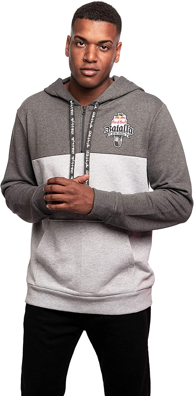 Red Bull Batalla Sudadera con Capucha, Gris Hombre X-Large Hoodie ...
