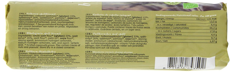 Amazon.com: Molenaartje Organic Wholegrain Spelt Biscuits ...