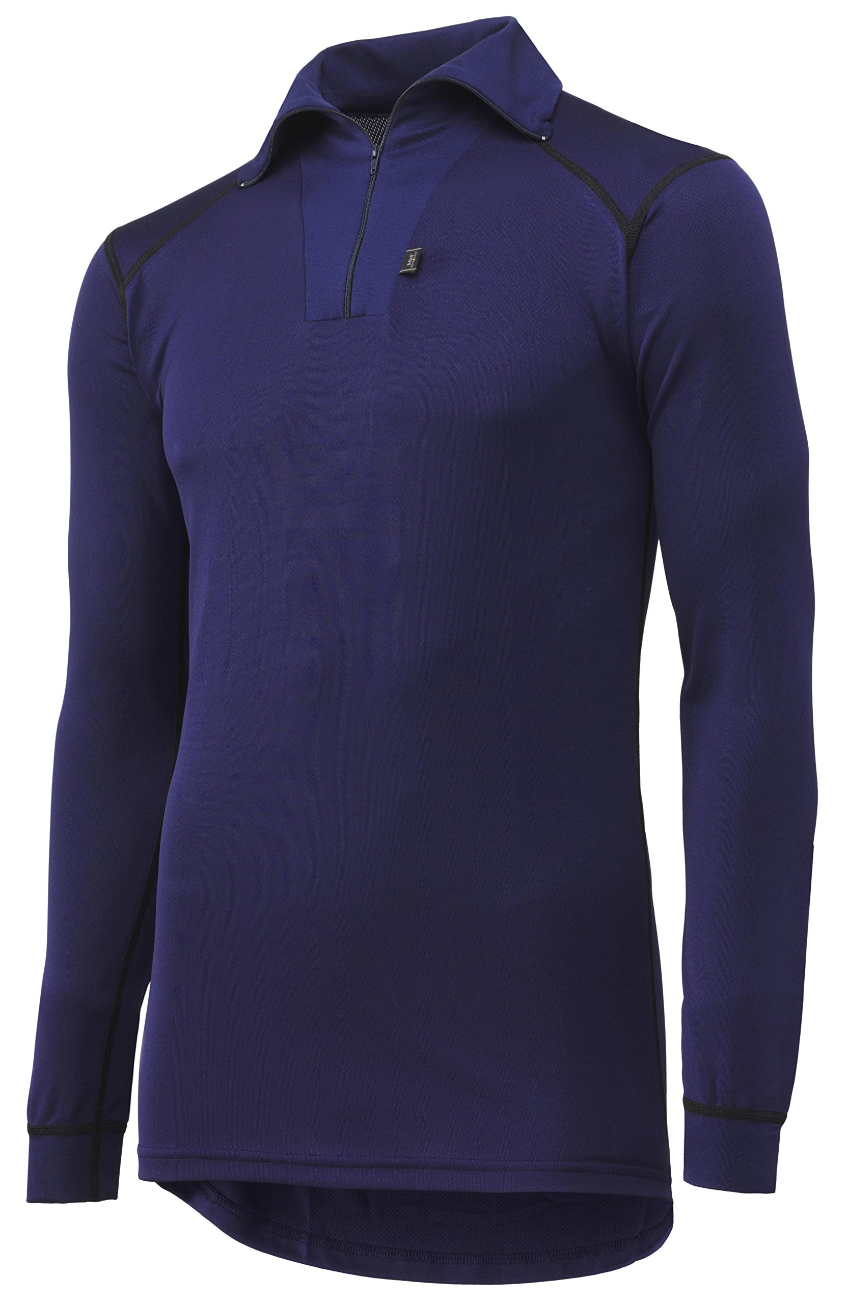 Helly Hansen 75017_590-XL Kastrup With Zip Poloshirt Long Sleeve, X-Large, Navy Blue