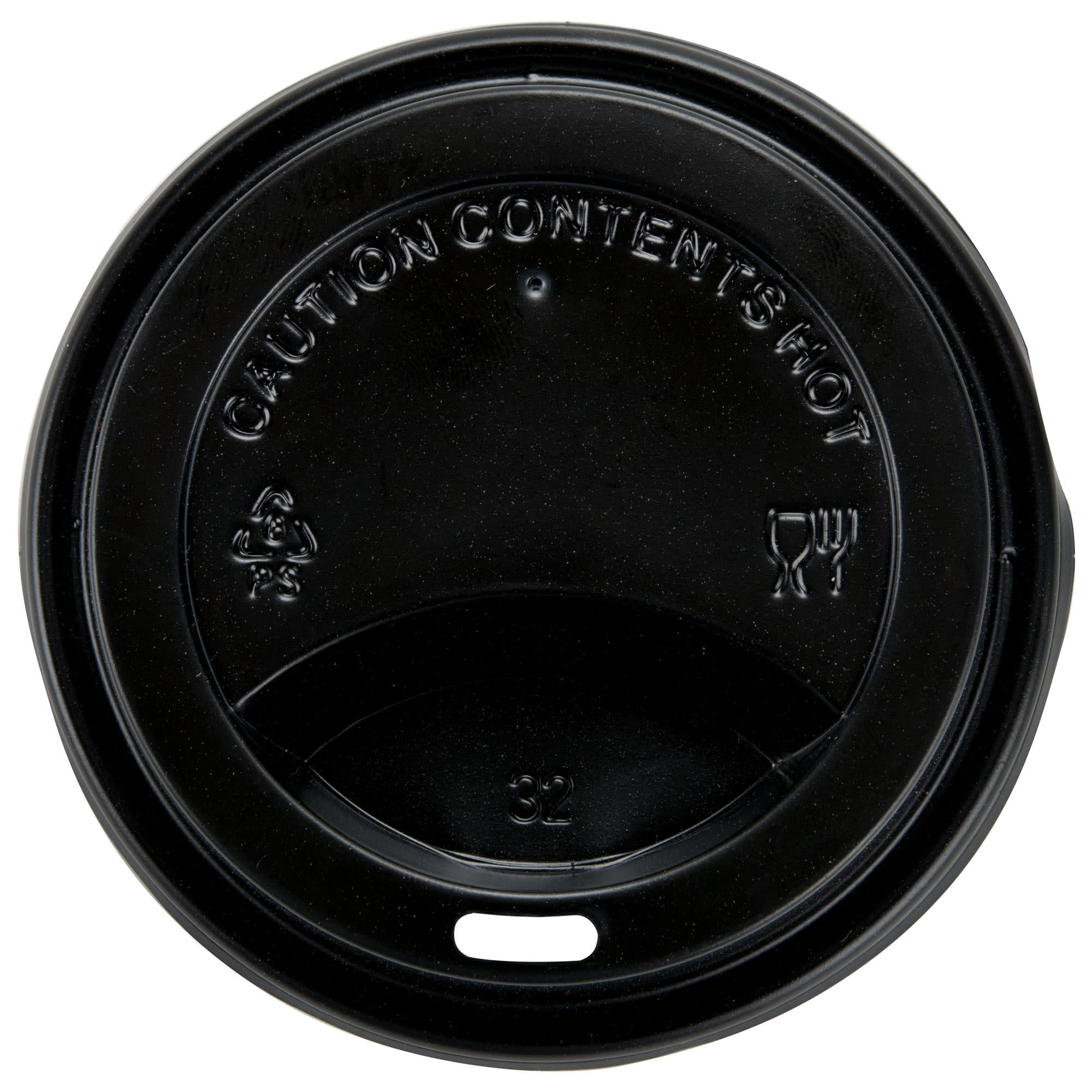 TableTop King 8 oz. Black Hot Paper Cup Travel Lid - 1000/Case